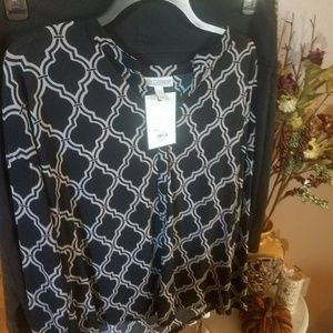 Dana Buchman career blouse